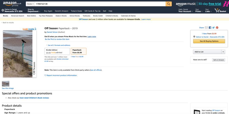 Amazon page